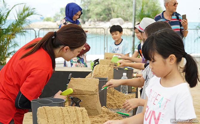 Sand sculpting workshops at Sentosa Sandsation 2018