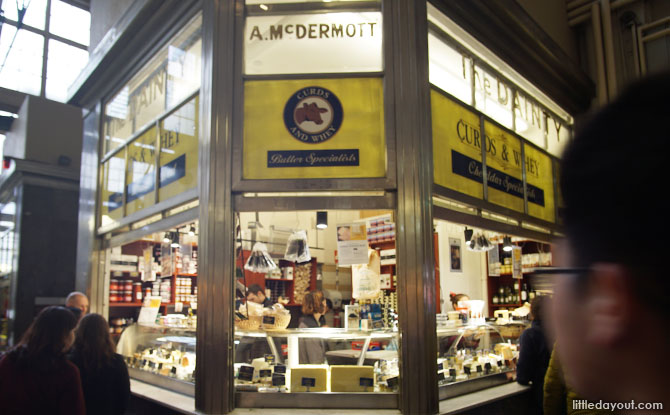Cheese stores at the Queen Victoria Market.