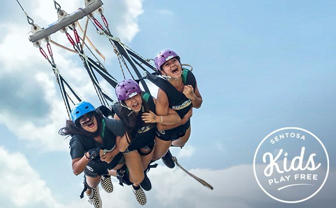 Skypark By Aj Hackett Sentosa - Kids Play Free at Sentosa