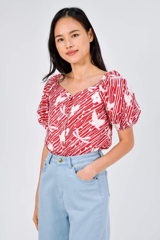 All Would Envy camellia blouse