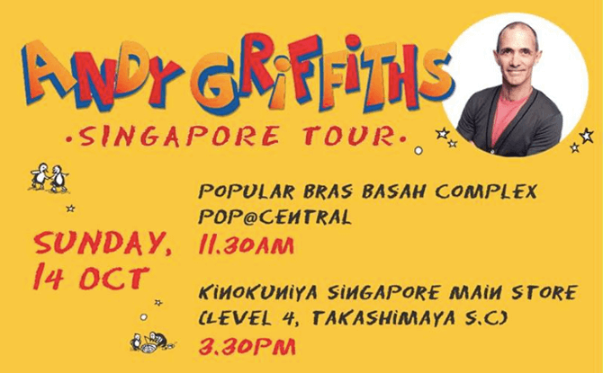 Andy Griffifths Singapore Tour