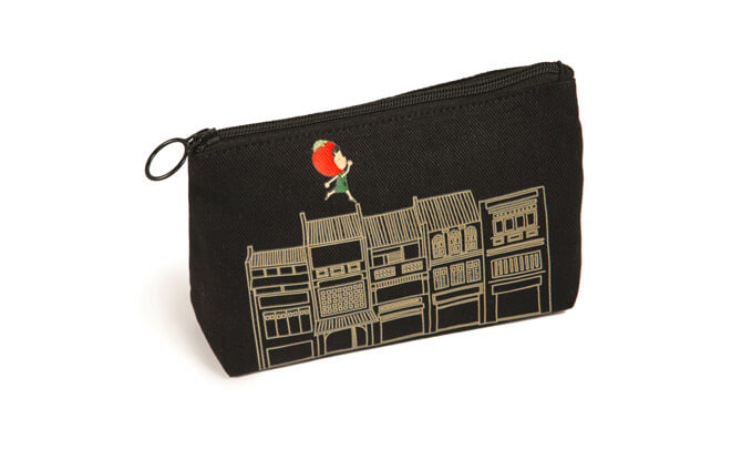 Ang Ku Kueh Girl and Friends Shophouse Series Travel Pouch (set of 2) $70, from angkukuehgirl.com