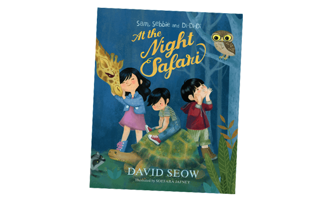 At the Night Safari book - Children's Books Singapore