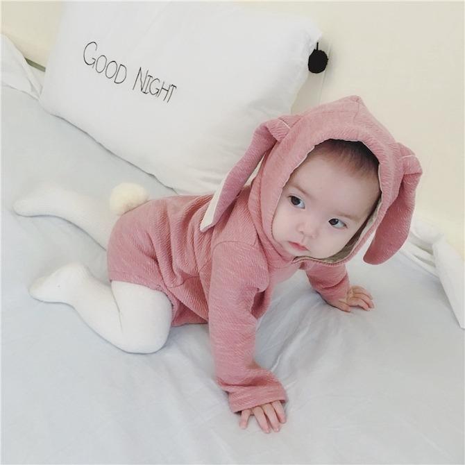Baby Hooded Rabbit Ear Romper
