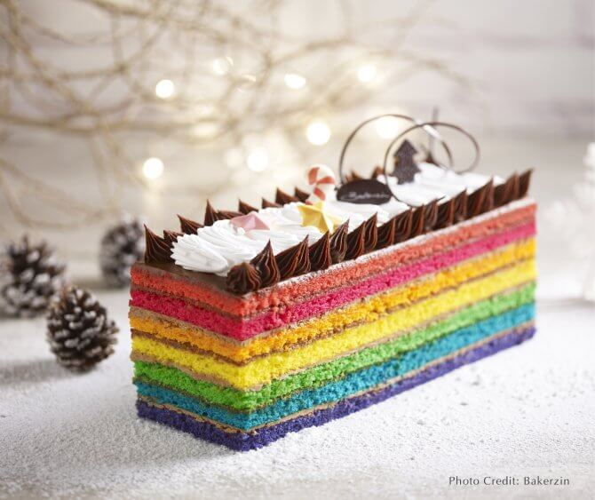 Bakerzin's Rainbow Yule Log