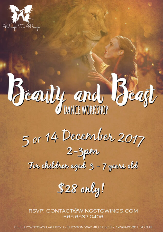 Wings to Wings Beauty and Beast Dance Workshop