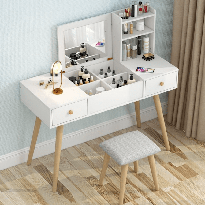 Beimu Nordic Flip Dresser Makeup Table