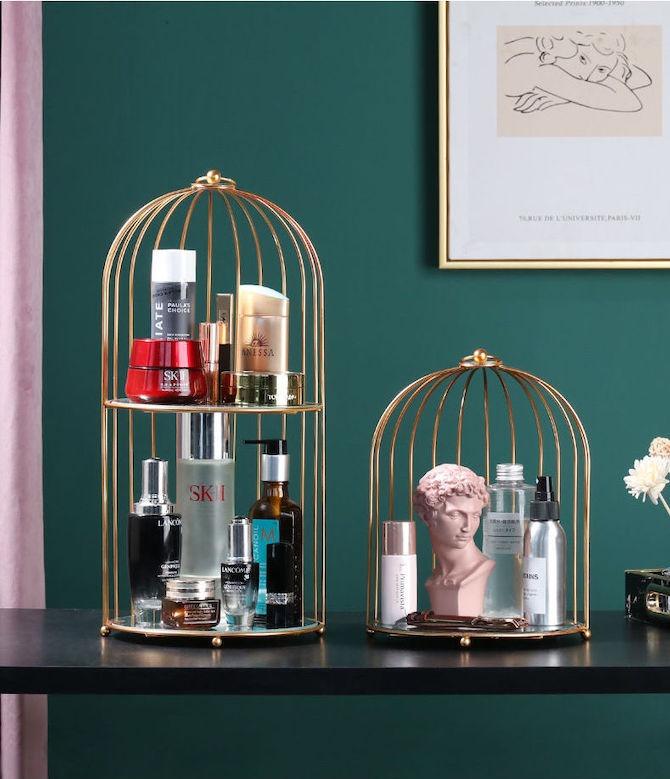 Birdcage Cosmetics Organizer