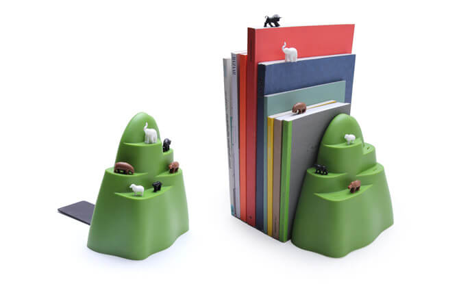 Qualy Design Book Mountain Bookend and Bookmarks $59.90, from qualydesign.sg