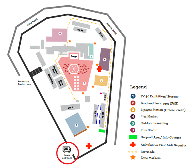 Map of SHF 2017 at Caldecott Broadcast Centre