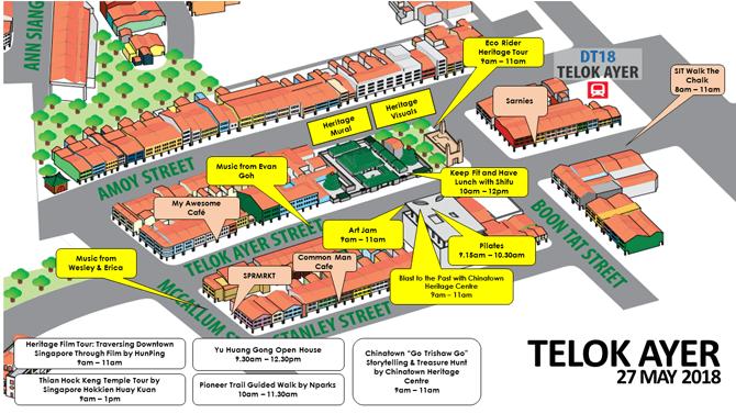 Car-Free Sunday Map - Telok Ayer