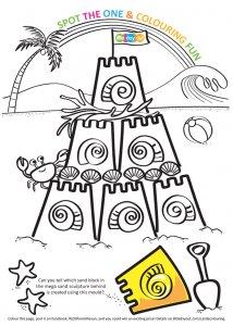 Castle Colouring Activity Sheet