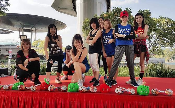Changi City Point mass zumba