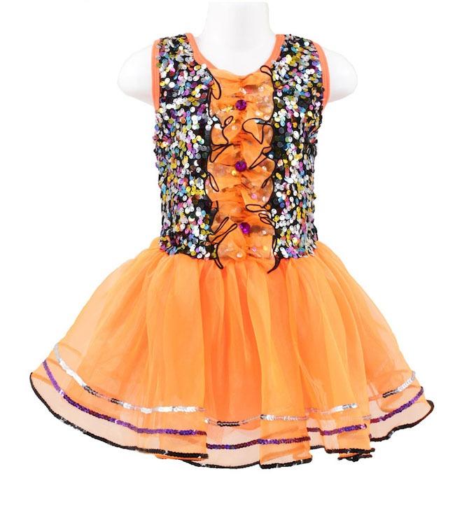 Children's Costume Specialist orange sequin dress