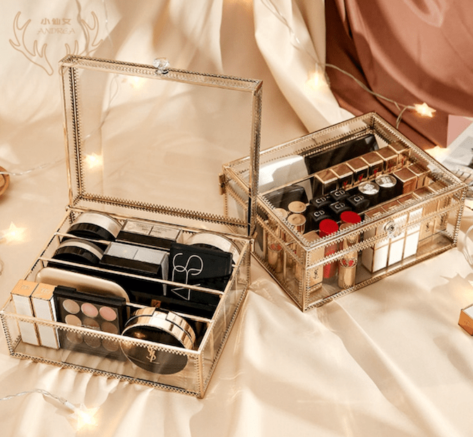 Cosmetics Collection Glass Box