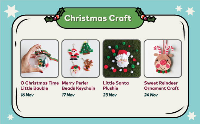 Hands-on with Festive Crafts at Sembawang Shopping Centre