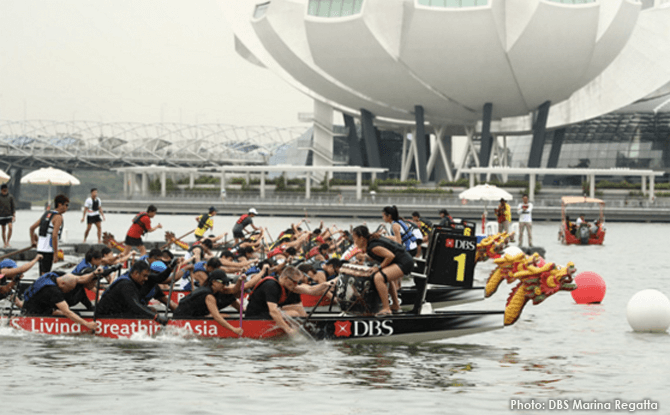 DBS Marina Regatta dragonboat race