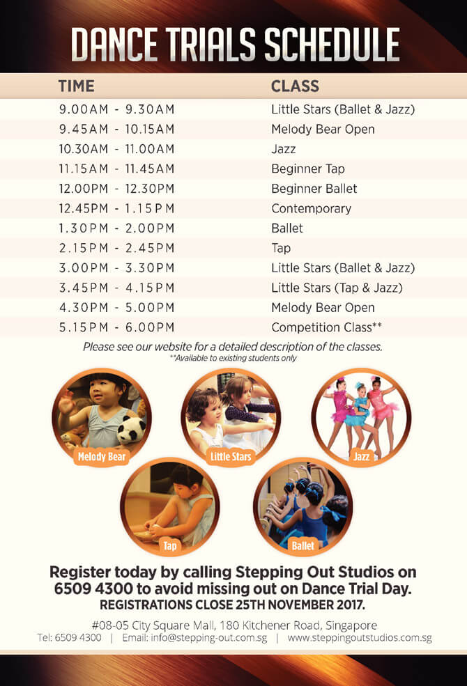 Stepping Out Studios 2 December 2017 Dance Trial Day