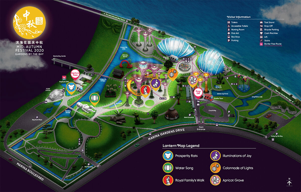 Map of Lanterns at Gardens by the Bay 2020