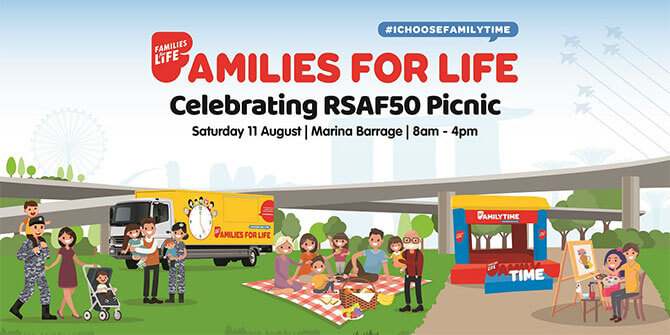 "Families for Life ""Celebrating RSAF50"" Picnic on Saturday, 11 August"