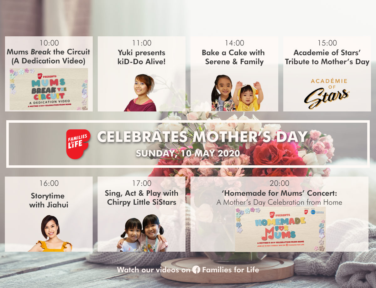 Families for Life Mother's Day @ Home Programmes