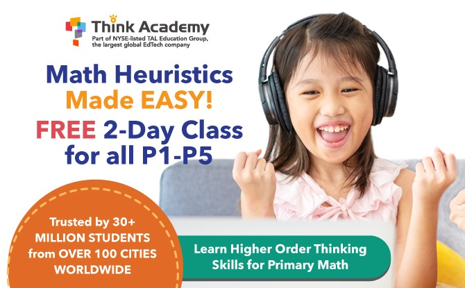 Fun-Filled 2 Days Online Math Heuristics Class! (FREE) With Singapore's First-Ever Dual-Teacher, EdTech-Powered LIVE Online Lessons