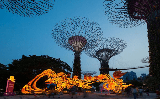 The longest lantern set at Gardens by the Bay Mid-Autumn Festival 2016