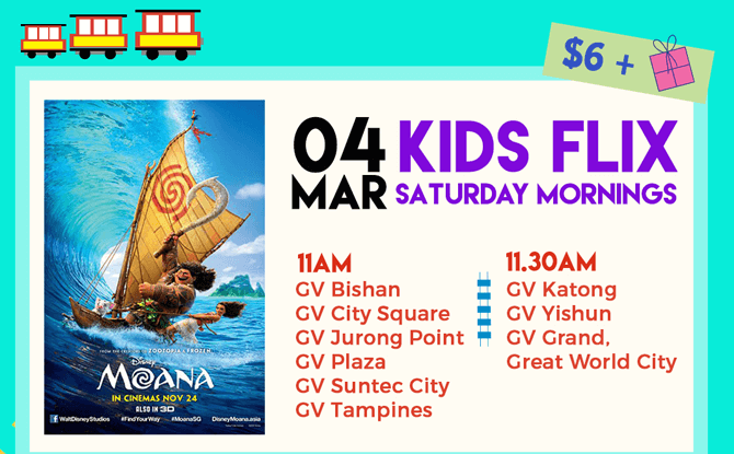 Golden Village Kids Flix: Disney's Moana