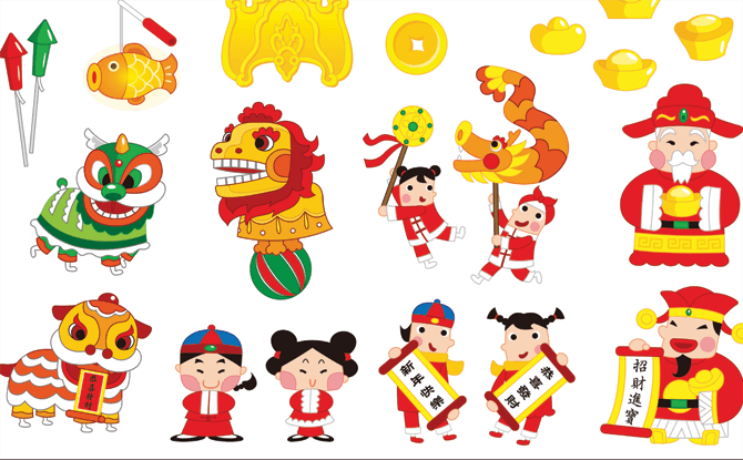 Generic Chinese New Year symbols