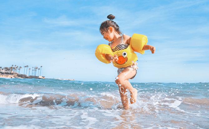 Generic beach swim kids
