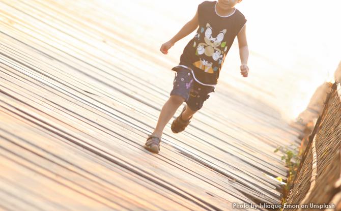 Generic boy running jog 1