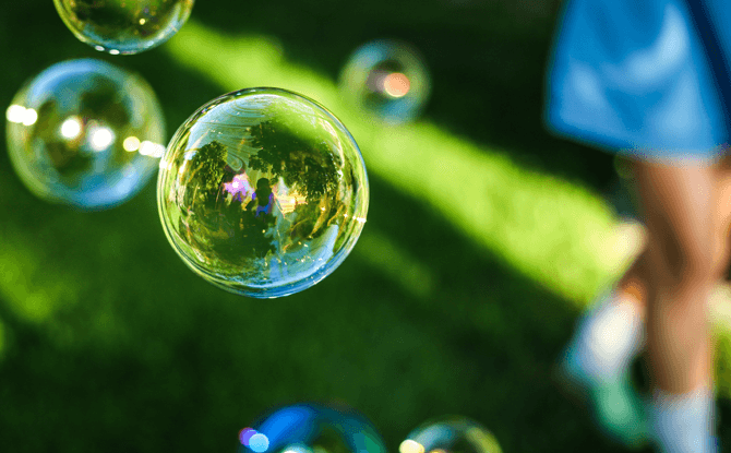 Generic bubbles outdoors park