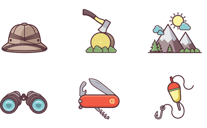 Generic camping icons 2 1