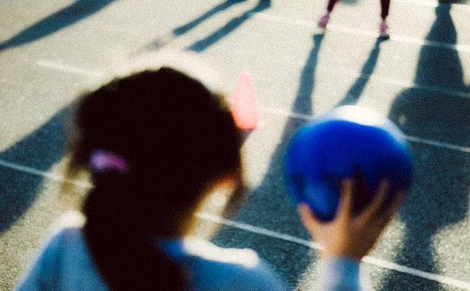 Generic girl ball play