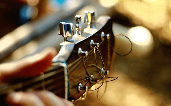 Generic guitar closeup