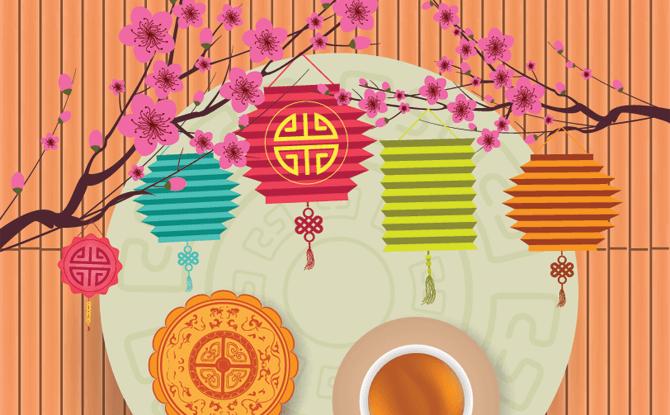Mid Autumn Festival Mooncake & Lanterns