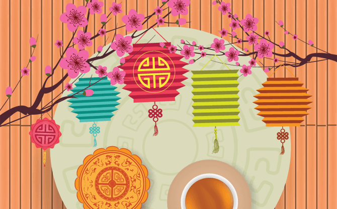 Mid Autumn Festival Mooncake & Lanterns