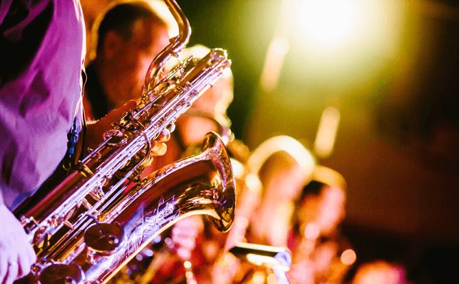 Generic music band saxophone