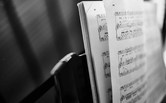 Generic music score