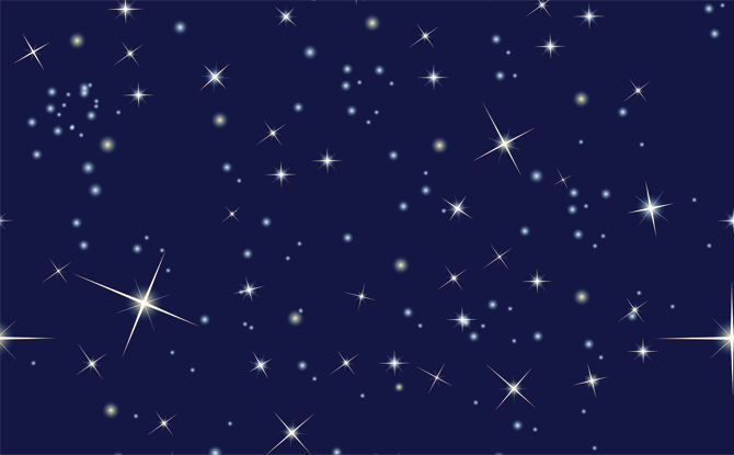 Generic night sky stars