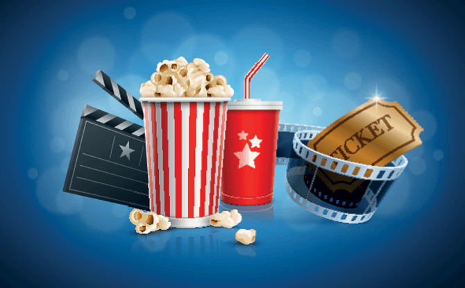 Generic popcorn movie tickets