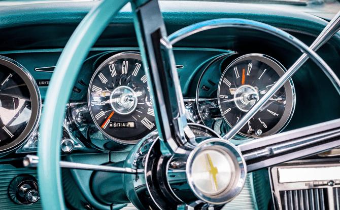 Generic vintage car steering 1