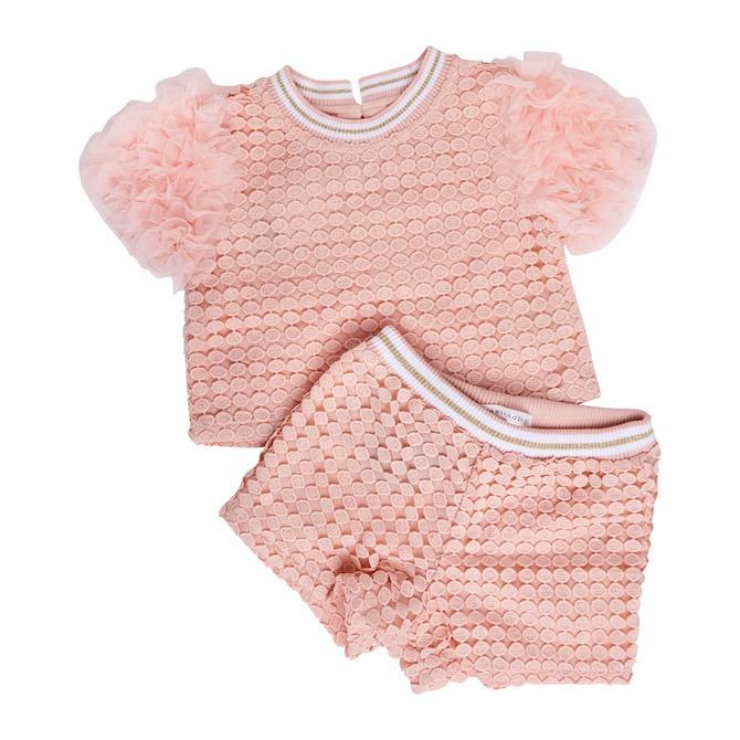 Gingersnaps Spot Lace Shorts Set