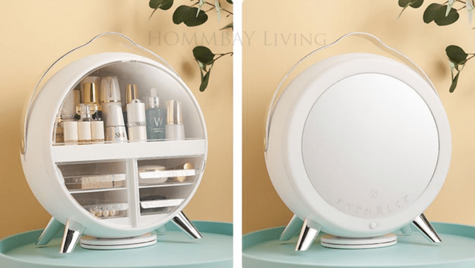 HOMMBAY Living NEW MAKEUP ORGANISER WITH LED LIGHT AND MIRROR