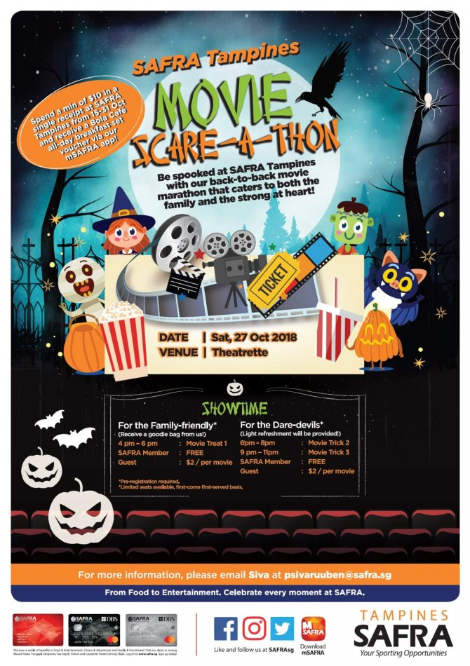 SAFRA Tampines Movie Scare-a-thon
