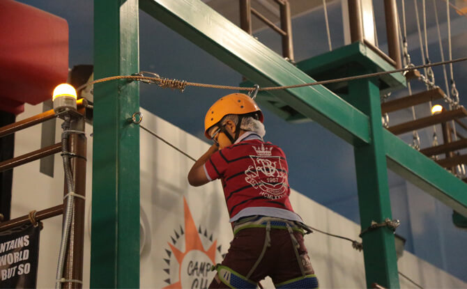 Height of Fright by CAMP CHALLENGE at KidZania Singapore's SpookyTown 2019