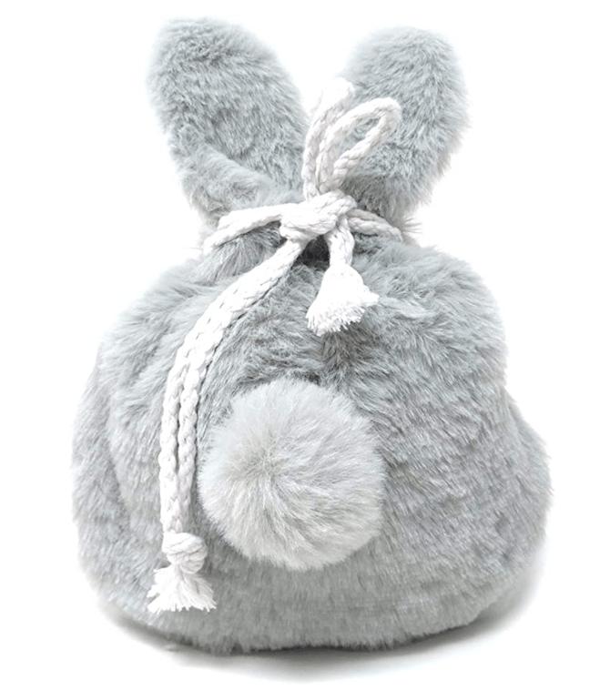 Honbay Cute Rabbit Ear Drawstring Cosmetic Pouch