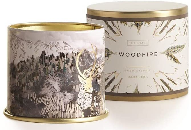 Illume Holiday Large Tin in Woodfire