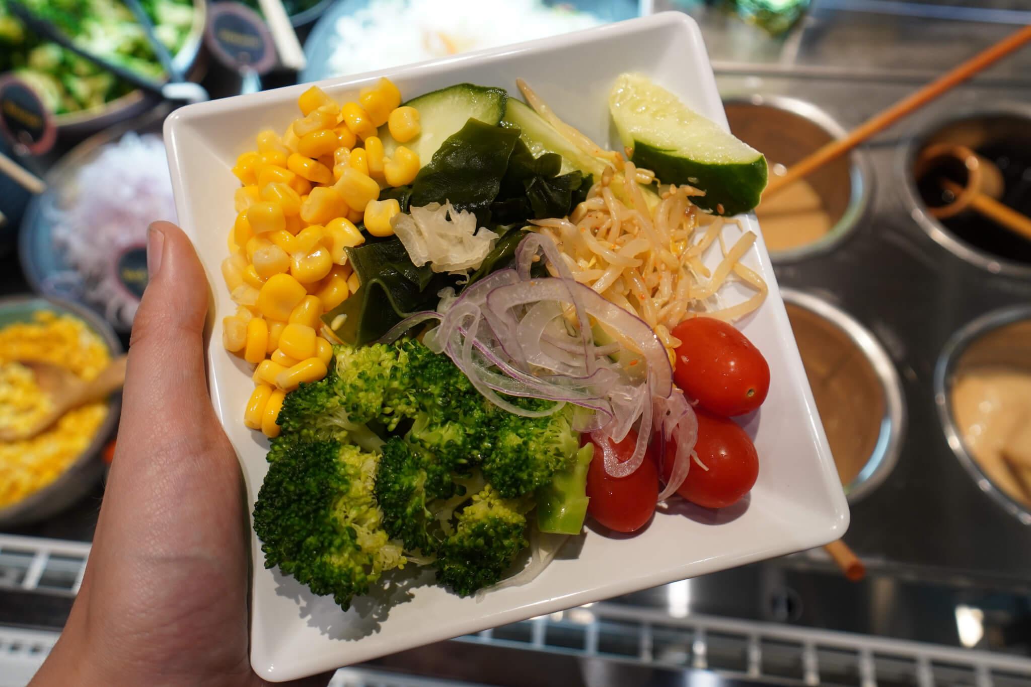 Salad Bart at Shiokoji Tonkatsu Keisuke