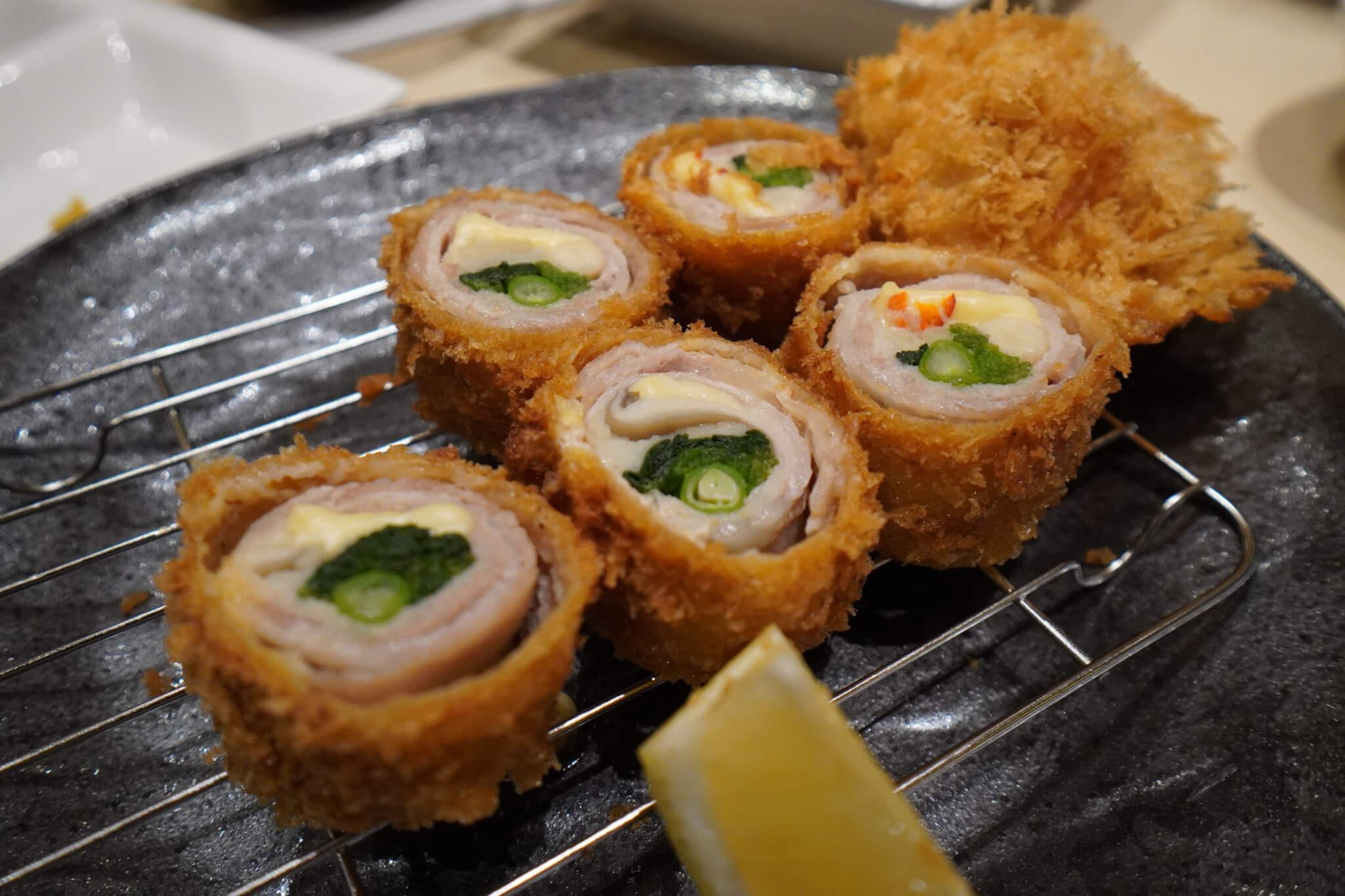 Rolled Pork & Vegetables Tonkatsu